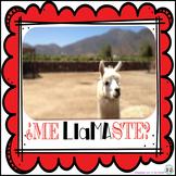San Valentín:  Ama La Llama #3 . . . 4 Mini Llama Posters and 4 Blank Cards