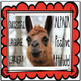 San Valentín:  Ama La Llama . . . Our Valentine gift to You! mini llama posters