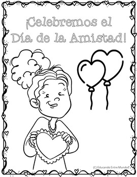 valentine coloring pages spanish | San Valentin Coloring pages by Educando Entre Mundos Tapas ...
