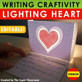 San Valentín Craftivity: Lighting Heart - En Español