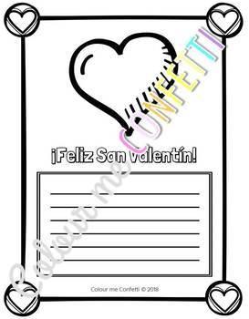 San Valentín - Fichas de escritura - Colour me Confetti