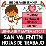 San Valentín: Hojas de Trabajo