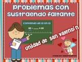 San Valentín-Problemas de Matemáticas con Sustraendo Faltante 10 en 10