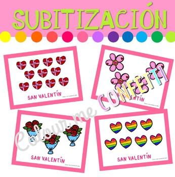 San Valentín Set Subitización - Colour me Confetti