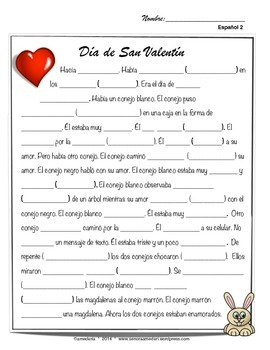San Valentin, Spanish 2 valentines day movie talk and song mini unit