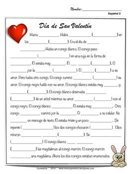 San Valentin, Spanish 2 valentines day movie talk and song mini unit