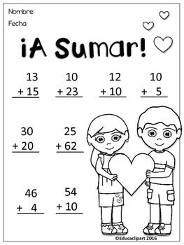 San Valentín - Suma y Resta dos dígitos