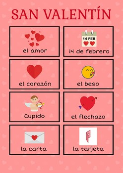 San Valentín / Valentine's Day – Spanish Vocabulary & Activities for Children