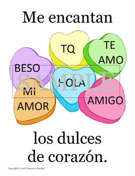 San Valentin Cuento (Yo quiero, Me encanta) leer, dibujar, escribir