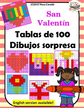 San Valentin 100 chart dibujos sorpresa