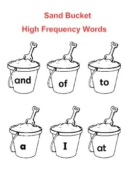 Sand Bucket Fry High Frequency Words/Sight Words