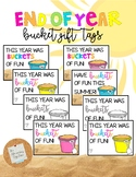 Sand Bucket Gift Tag: End of Year *EDITABLE