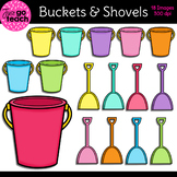 Sand Buckets and Shovels {Clipart}