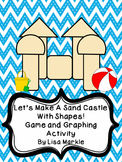 Sand Castle Shapes and Graphing Game for Preschool
