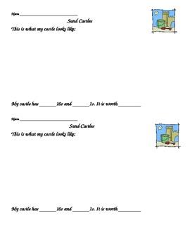 Sand Castles- beach week math activity
