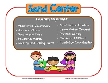 Sand Learning Center Sign~ With Objectives
