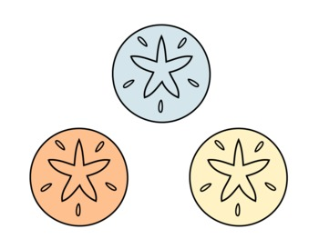 Sand Dollar Clip Art [Commercial and Personal Use]