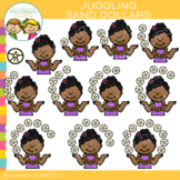 Sand Dollar Summer Counting Clip Art