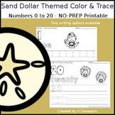 Sand Dollar Themed Number Color and Trace