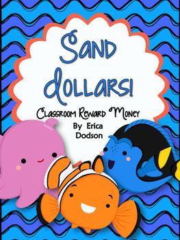 Sand Dollars!  Finding Nemo/Dory Themed Classroom Management Reward Money