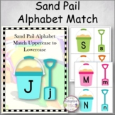 Sand Pail Alphabet Match Uppercase to Lowercase