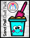 Sand Pail Craft Activity for Beach, Summer Morning Work, C