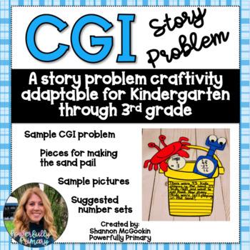 Sand Pail Summer Craftivity | CGI Word Problem | Story Problem