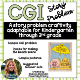Umbrella Summer Craftivity | CGI Word Problem | Story Problem