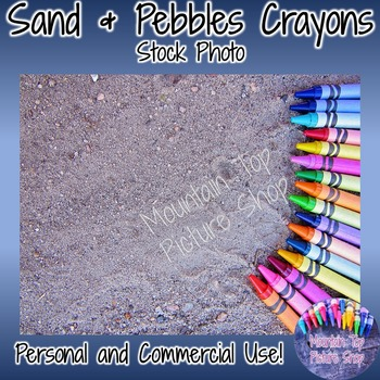 Sand & Pebble Crayons (Stock Photo)