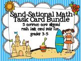Sand-Sational Math Task Card Bundle: 5 Common Core Aligned Task Card Sets
