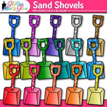 Sand Shovel Clip Art {Summer Beach Toy Graphics for Classroom Decor}