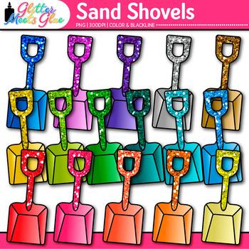 Sand Shovels Clip Art - Summer Beach Toys - Digital Scrapbooking