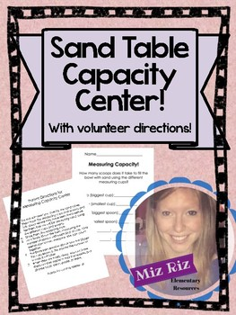 Sand Table Capacity Center! {With volunteer directions!}