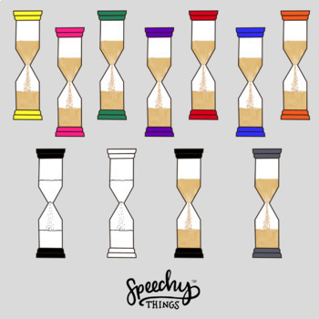 Sand Timer Clipart - Hourglass by Speechy Things | TpT