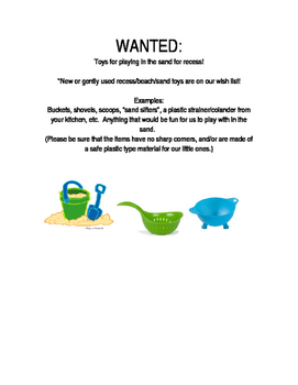 Sand Toys Wanted