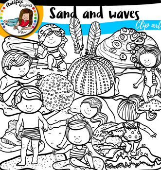 Sand and waves clip art