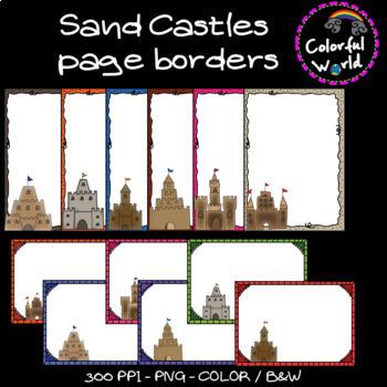 Sand castle page borders