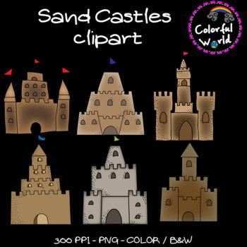 Sand castles clipart