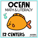 Ocean Centers: Math & Literacy Activities for Pre-K & Kindergarten BUNDLE