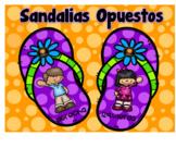 Sandalias Opuestos