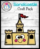 Sandcastle Craft Pack for Beach, Summer Center Activities