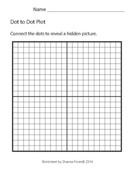 Sandcastle Dot to Dot, Graphing Ordered Pairs, Hidden Picture