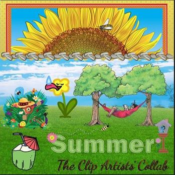 Sandcastle Summer Clip Set FREEBIE Commercial and Personal Use