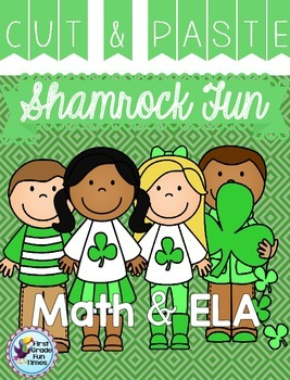 St. Patrick's Day Cut & Glue Activities for ELA and Math