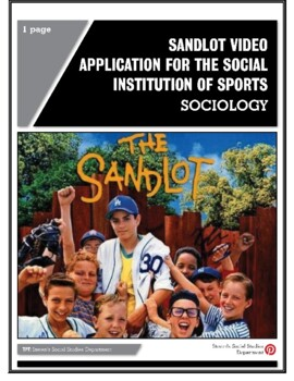 The Sandlot Worksheets & Teaching Resources | Teachers Pay