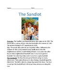 Sandlot - baseball movie lesson review facts information questions word search