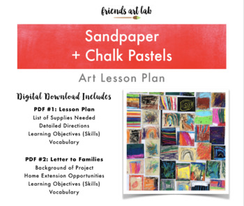 Sandpaper + Chalk Pastel Art Lesson Plan (Perfect for Art & Sensory Lessons)