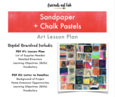 Sandpaper + Chalk Pastel Art Lesson Plan (Perfect for Art