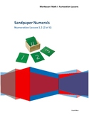 Sandpaper Numbers Numerals Montessori Math Lesson Plan Num