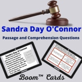 Sandra Day O'Connor Boom™ Cards passage and comprehension